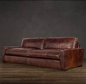 maxwell leather sofas restoration hardwarelove the With leather sofa repair