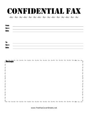 15169 confidential fax cover sheet pdf barbed wire confidential fax fax cover sheet at