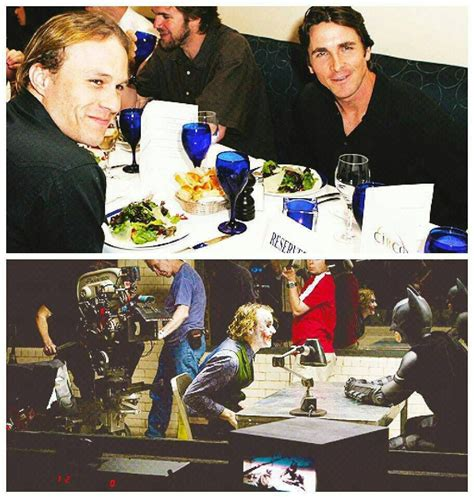 Christian Bale Heath Ledger The Dark Knight