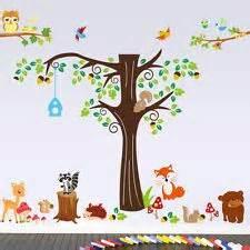 wandtattoo wald sticker tiere zoo spielzimmer kinderzimmer riesig groß xxxxl kinderzimmer - Wandtattoo Wald Kinderzimmer