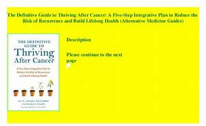 The Definitive Guide To Thriving After Cancer  A Five