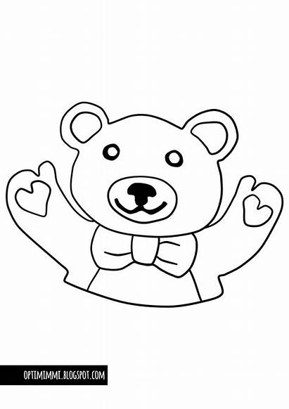 Teddy Bear Coloring Hug Vaerityskuva Hali Taeaellae