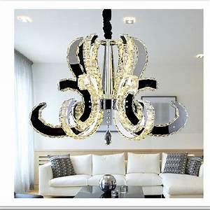 Lustre Salon Moderne : pas cher moderne de luxe grand cristal led lustre pour ~ Voncanada.com Idées de Décoration