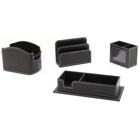set de bureau 4 pièces en simili cuir