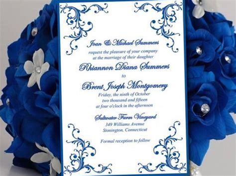 printable wedding invitation template horizon blue