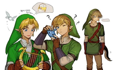 Link, Navi, And Sheik (the Legend Of Zelda, The Legend Of