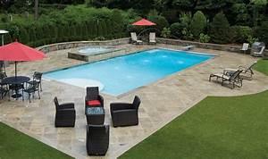 Piscine Enterrée Rectangulaire : est ce que la piscine rectangulaire est la forme la plus commune piscines et jacuzzi ~ Farleysfitness.com Idées de Décoration