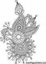 Coloring Pages Paisley Adult Colouring Abstract Printable Mandala Zentangle Easy Detailed Doodle Books Coloriage Adulte Pour Voor Volwassenen Sheets Stress sketch template