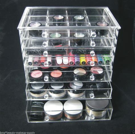 acrylic 7 drawer counter top makeup organizer