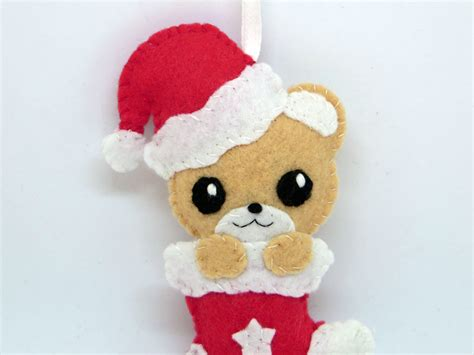 deco noel decoration de noel ours ours kawaii decoration feutrine decoration de noel boule