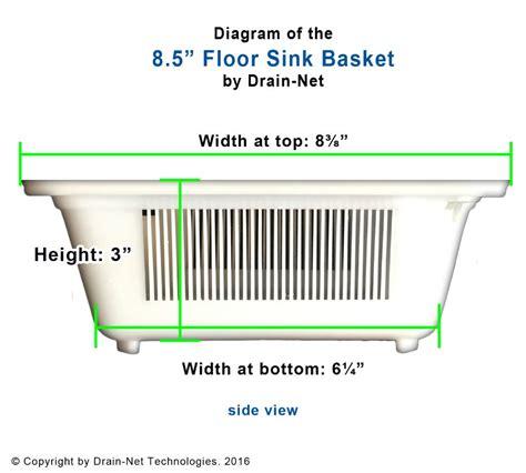 wade floor drain trap 8 5 quot plastic floor sink basket for restaurants kitchens