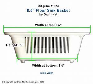 8 5 U0026quot  Plastic Floor Sink Basket For Restaurants  U0026 Kitchens