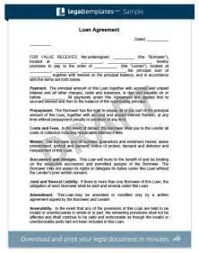 Sample Loan Agreement Template