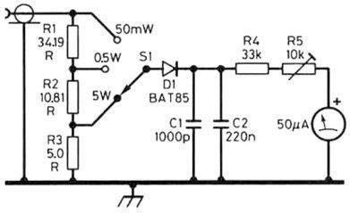 simple dummy load rf power meter radio