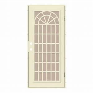 unique home designs 36 in x 80 in trellis beige hammer With unique home designs security doors