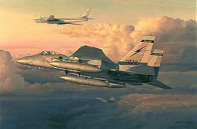 aviation art west philip eagle intercept