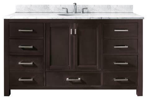 60 Inch Bathroom Vanity Single Sink Canada by Modero Single Vanity Only Espresso Contemporary