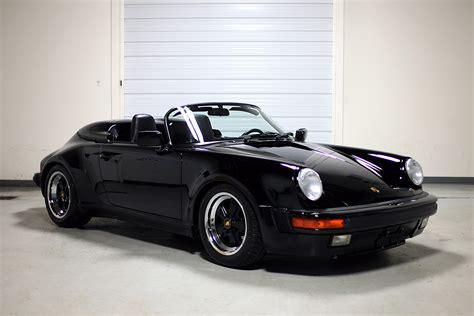 porsche speedster 1989 porsche 911 speedster black 3 357 miles sloan cars