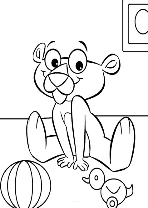 pink panther coloring pages  kids printable