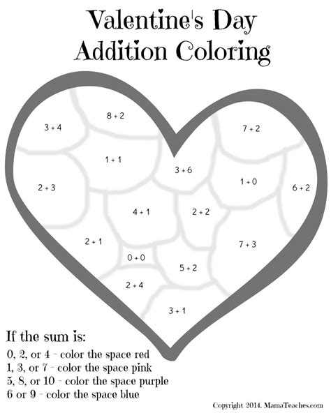 15 Best Images Of S Valentine Math Worksheets  Valentine's Day Math Kindergarten, Valentine's
