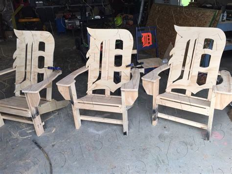 detroit tigers adirondack chairs unpainted you saw it