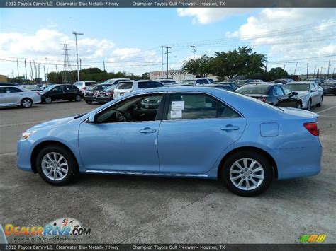 2012 Toyota Camry Le by 2012 Toyota Camry Le Clearwater Blue Metallic Ivory