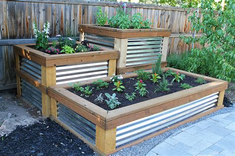 Wood Used For Raised Garden Beds by Raised Herb Garden Two Peas Amp Their Pod
