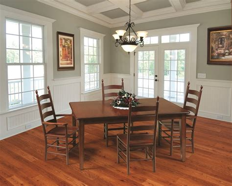 shaker amish dining table  lancaster county pa