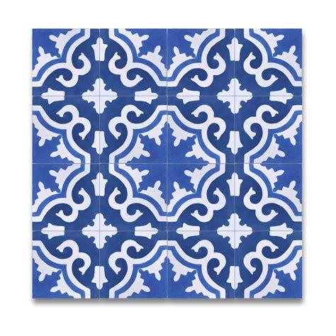 moroccan mosaic tangier 8 quot x 8 quot marble painted tile