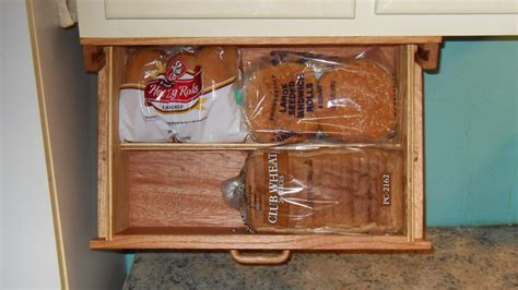 storage set for kitchen cabinet mount bread box storage drawer and 50 5883