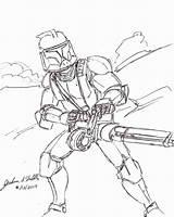 Clone Wars Trooper Coloring Drawings Drawing Arc Blaster Printable Sheets Getcolorings Ren Kylo Getdrawings Troo Paintingvalley Colori sketch template