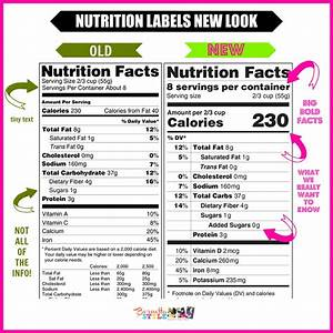 Nutrition Fact Labels Changes Are Clear