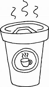 Coffee Coloring Cup Pages Latte Printable Clipart Drawing Clip Mug Cliparts Print Getcoloringpages Getcolorings Getdrawings Library 20clipart sketch template