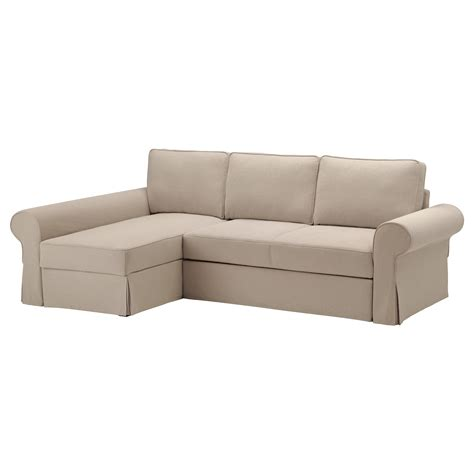 sofa bed chaise backabro sofa bed with chaise longue hylte beige ikea