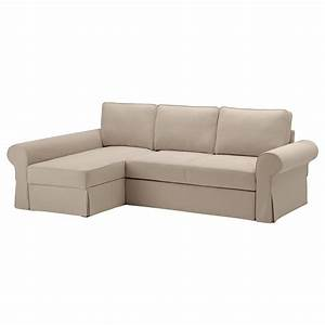 backabro sofa bed with chaise longue hylte beige ikea With chaise sofa bed