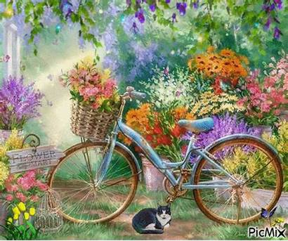 Bicycle Flowers Paint Painting Flores Number Pinturas