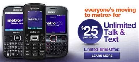 talk and text phones metropcs 25 unlimited talk and text plan is available now