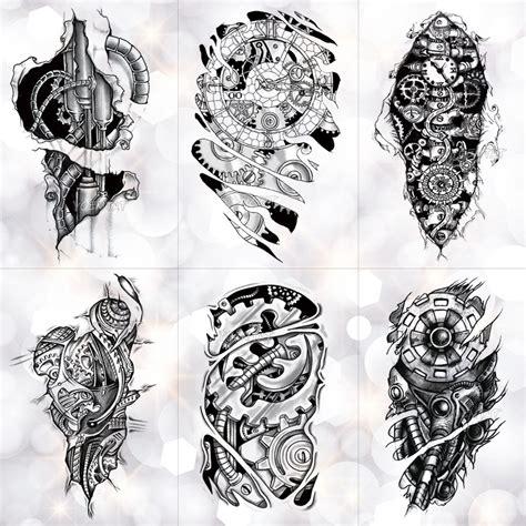 bionic mechanical arm gear scorpion temporary tattoo