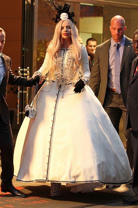 lady gaga princess gown lady gaga  stylebistro