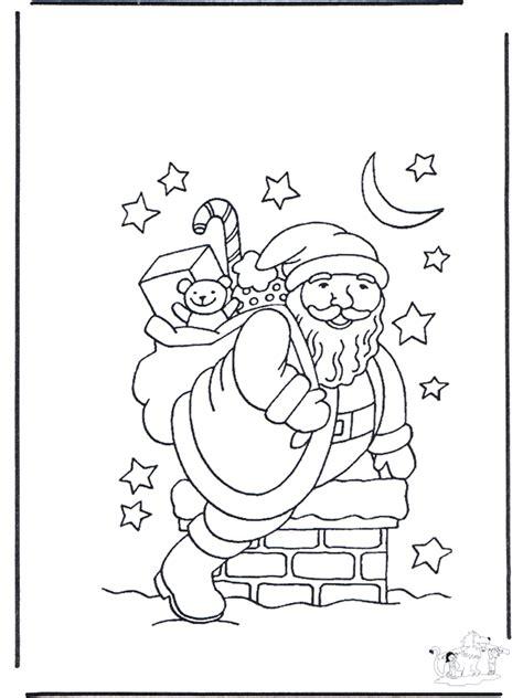 weihnachtsmann im kamin ausmalbilder weihnachten