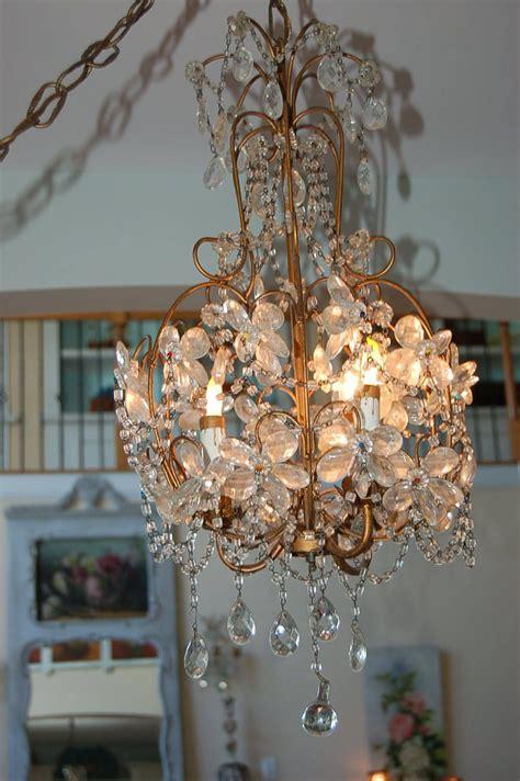 best chandelier best antique vtg macaroni beaded chandelier flower
