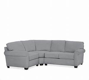 buchanan right 3 piece small sectional with corner wedge With 3 piece corner sectional sofa