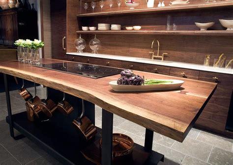 kitchen islands oak kitchen island with live edge countertop eclectic kitchen