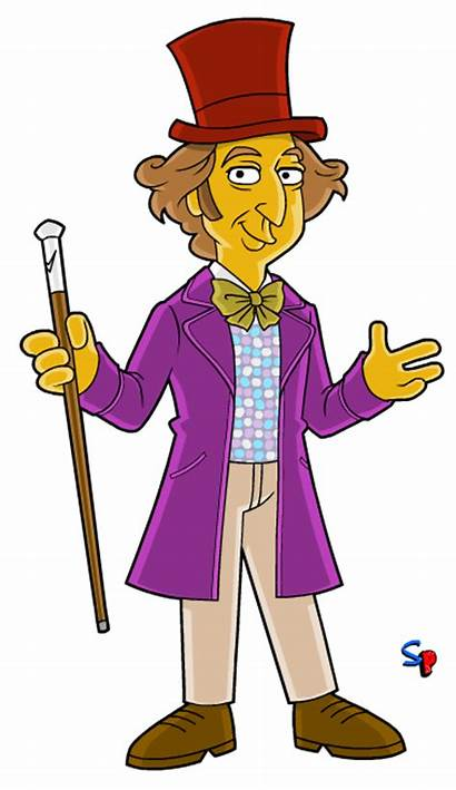 Wonka Willy Clipart Chocolate Simpsons Punx Springfield