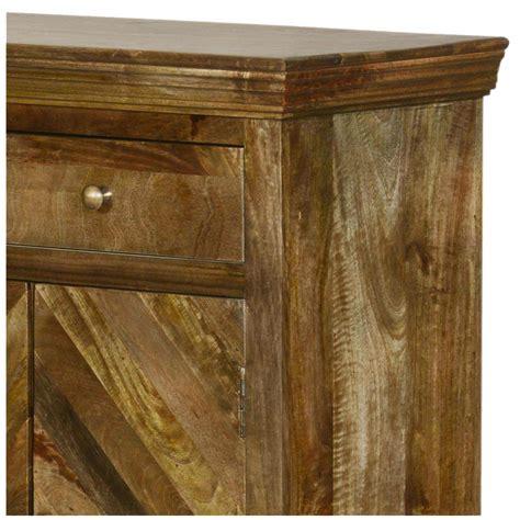 Mango Wood Sideboard by Parquet Mango Wood 3 Drawer Sideboard