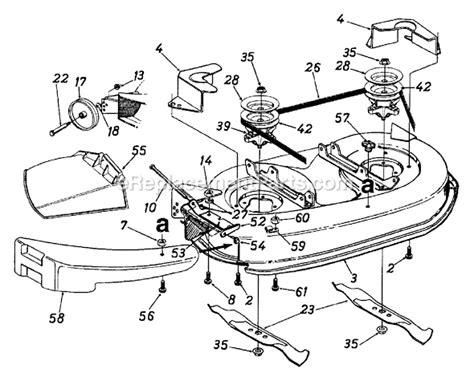 yard machines amg parts list  diagram