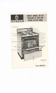 Tappan Electric Range Owners Manual Vintage Part   560t452f32