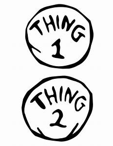 ashley barrett designs a drseuss themed party With thing 1 and thing 2 printable template
