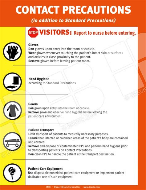 contact precautions sign english brevis