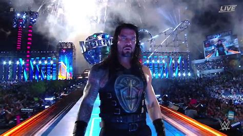 wrestlemania  results roman reigns pins undertaker